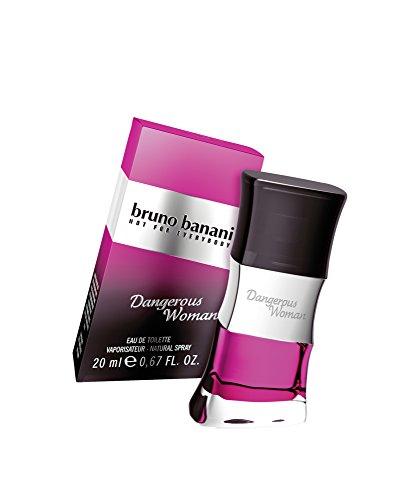 bruno banani Dangerous Woman – Eau de Toilette Natural Spray – Verführerisch-warmes Damen Parfüm – 1er Pack (1 x 20ml)