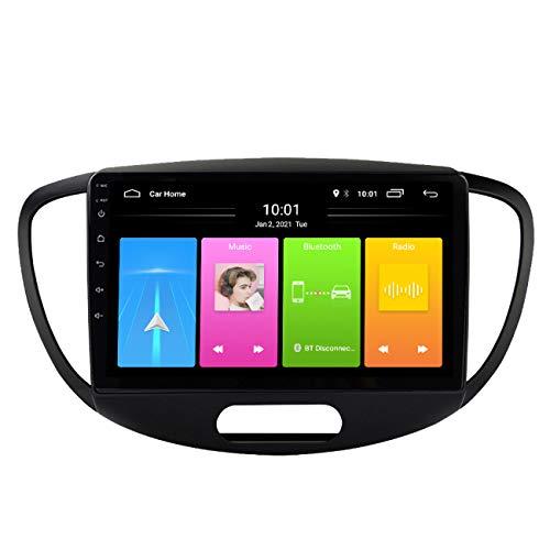 Radio de coche, Reproductor Multimedia de Radio de coche Android 10 para Hyundai Grand I10 2008-2012, reproductor Multimedia HD Autoradio 2 DIN estéreo,Wifi 1g+16g