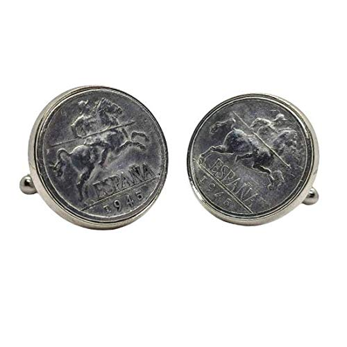 Gemelos para camisa: Genumis Jinete Iberico - Moneda 5c pesetas 1945 E