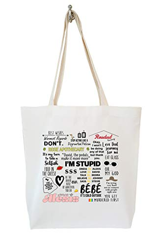 Why Z I'm Stupid Eat Glass TV Quotes Calico Tote Bag Gifts, Natural-cream, Medium