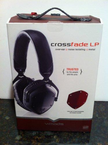 V-MODA Crossfade LP Over-Ear Metal Headphones (Stealth Black)
