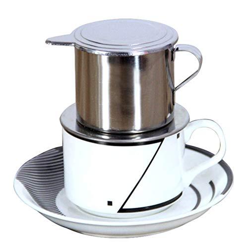 ypypiaol 50/100 Ml Estilo Vietnamita De Acero Inoxidable Cafetera Filtro De Goteo Olla Infusión Taza Simple 1# 100ml
