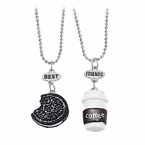 Elegant Rose, Freundschaftsarmbänder, mit Kaffee- und Keks-Anhängern, 3er-Set