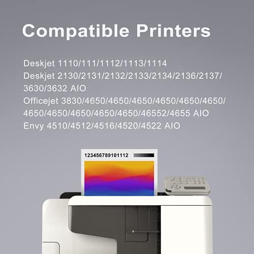 PINALL Compatible con HP 302XL 302 XL para HP DeskJet 3632 3630 OfficeJet 3830 OfficeJet 4650 4652 4655 AIO Envy 4510 4512 4516 4520 4522 (3*negro)