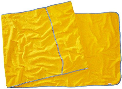 Sowel® Frottee Liegen-Auflage - Strandtuch mit Kapuzenüberschlag, rutschfest für Strand- und Garten-Liegen, 220 x 80 cm, 100% Baumwolle