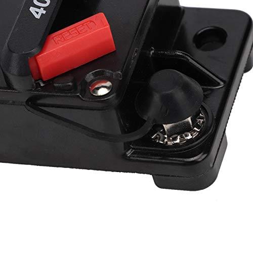 Disyuntor estéreo de audio con reinicio manual, fusible de autorrecuperación, para automóvil marino(40A, Blue)