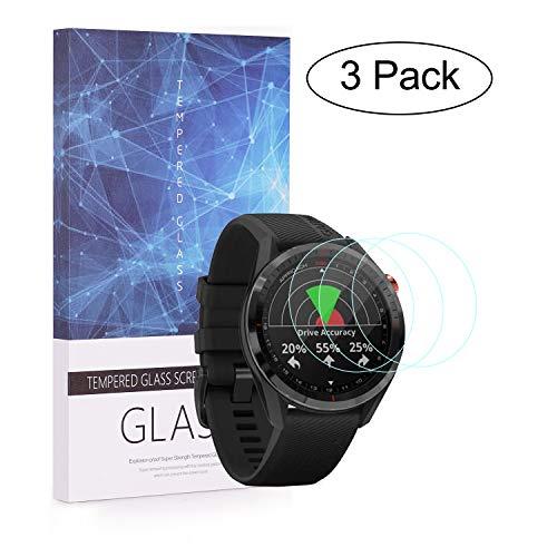 Becemuru Displayschutzfolie für Garmin Approach S62 Smartwatch, 9H, vollständige Abdeckung, gehärtetes Glas, 3 Stück