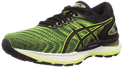 Asics Mens Gel-Nimbus 22 Running Shoe, Safety Yellow/Black, 45 EU