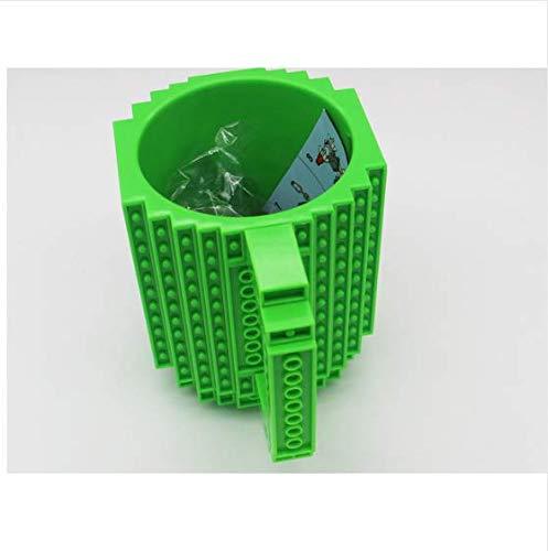 xiaojing Caliente 350 Ml Taza De Leche Creativa Taza De Café Taza De Ladrillo con Capacidad De Creación Creativa Soporte para Agua Potable para Lego Bloques De Construcción Diseño