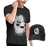 AYYUCY Camisetas y Tops Hombre Polos y Camisas, Dingtai Alice in Limbo Men's Short Sleeve T Shirt and Adult Washed Cowboy Hat