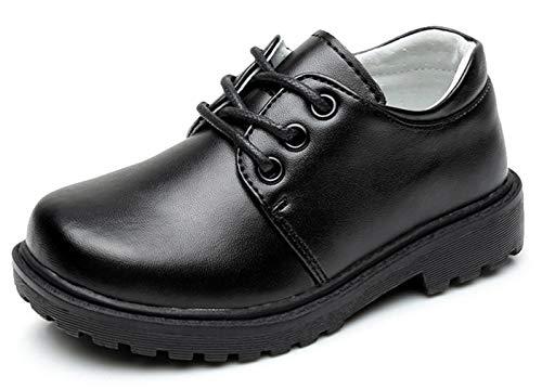 EOZY Festliche Kinder Anzug Schuhe Schnürhalbschuhe Lederschuhe Halbschuhe School Uniform Schuhe 26 Design-2