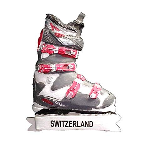 3D-Kühlschrankmagnet, Skischuh-Stil, Schweiz, Souvenir, Geschenk, Kühlschrank-Magnet-Sticker-Kollektion
