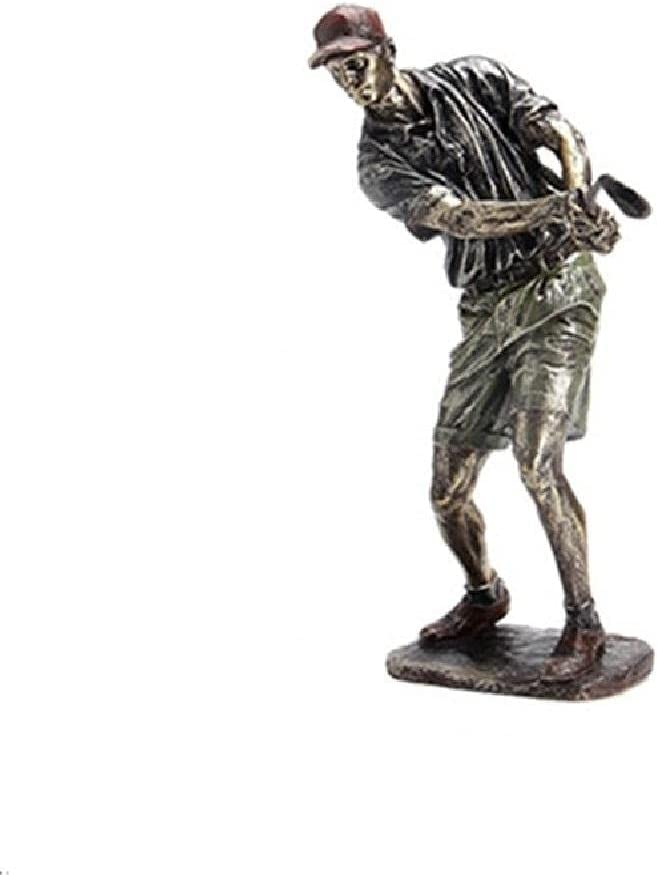 LZHLMCL Sculptures Retro Golf Statue Resin Vintage Golfer Figurines Home Office Decoration Souvnir Sport New Year Gifts Crafts C