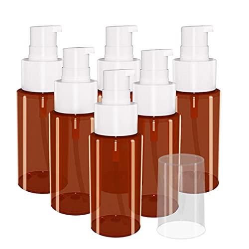 Pulverizar botella vacía cosmética Muestra la botella del aerosol 60ML Jabón Mousses dispensador de líquido para Aromatherapy de limpieza cosméticos 6PCS