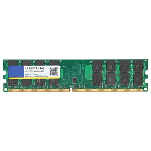 PUSOKEI DDR2 PC2‑6400 4GB Kit DDR2 800Mhz Desktop PC Memoria de computadora para módulo Ram, para Memoria dedicada AMD para computadoras de Escritorio, 1.8V