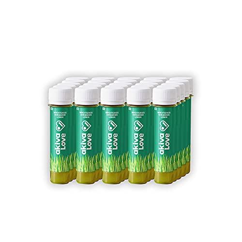 AKIVA Love Wheatgrass (Pack of 30) Ready to Drink Ayurvedic Juice Shots