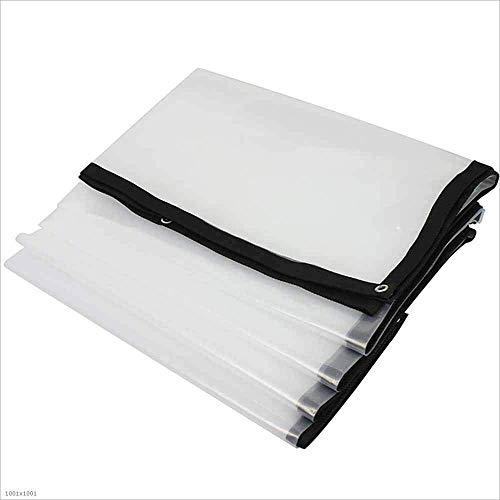 SACYSAC Transparente Ribete Tela de plástico Lona de Alquiler de Cubierta Impermeable al Aire Libre Tienda de campaña,4 * 8m