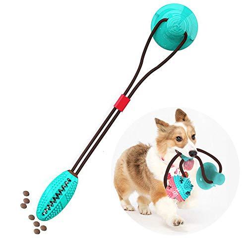 Lesgos Hundespielzeug Mit Saugnapf, Pet Molar Bite Toy Interaktives Kauspielzeug für Hunde, Robustes Spielzeug zum Reinigen der Zähne von Haustieren für kleine Hunde