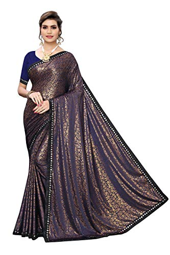 Anni Designer Women's Woven Lycra Saree (AISH-1001)