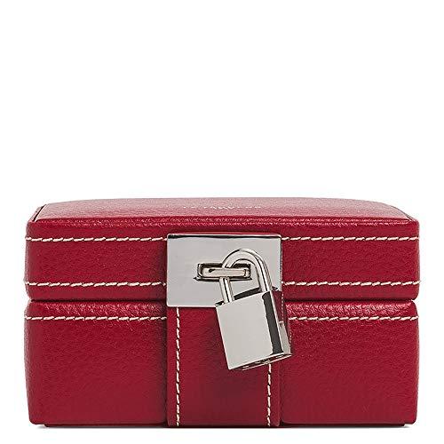 Le Tanneur Boîte à Bijoux de Voyage, Coffret à Bijoux, Coffre, Organisateur, boîte de Rangement à Bijoux en Cuir Femme.