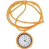 ibasenice Reloj de Enfermera - Collar Reloj Cuerda Mini Reloj de Cuarzo Reloj Colgante Reloj de Cuarzo de Silicona Médico Reloj de Solapa Reloj con Segundero para Enfermeras