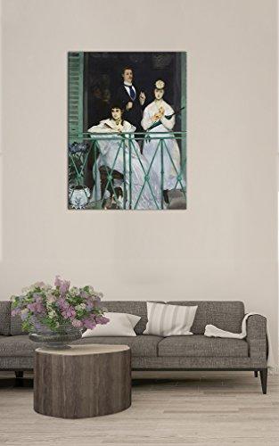 Leinwandbild Édouard Manet Der Balkon - 30x40cm hochkant - Wandbild Alte Meister Kunstdruck Bild auf Leinwand Berühmte Gemälde
