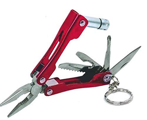 Mini Pince Multifonction 7 Outils Dont Mini Torche Avec Porte-Clés