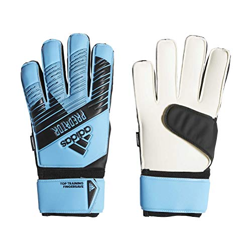 adidas Herren Predator Top Training Fingersave Torwarthandschuhe, Bright Cyan/Black, 8
