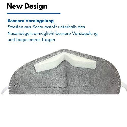 10 Stück FFP2 Atemschutzmaske Staubmaske Atemmaske- EU CE Zertifiziert von Offiziell benannter Stelle CE2834-5-lagige Staubschutzmaske Mundschutzmaske 10 Stück - 5