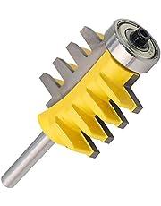 YILONG 8 mm Vástago del Carril Reversible Finger Joint Pegamento Router bit Cono Fresas de Espiga para Trabajar la Madera Herramientas del Carpintero