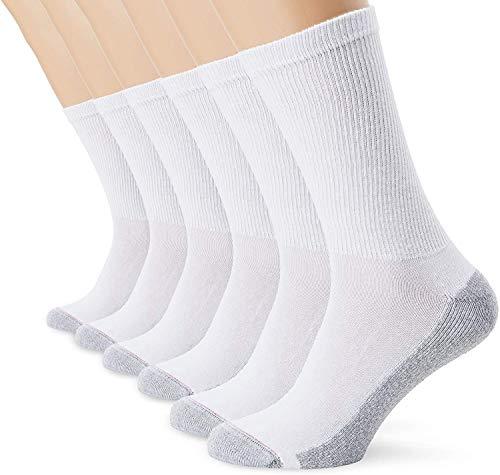 Dim CH ECODIM SPORTX6 Calcetines de Deporte, Blanco, 40-45 (Pack de 6) para Hombre