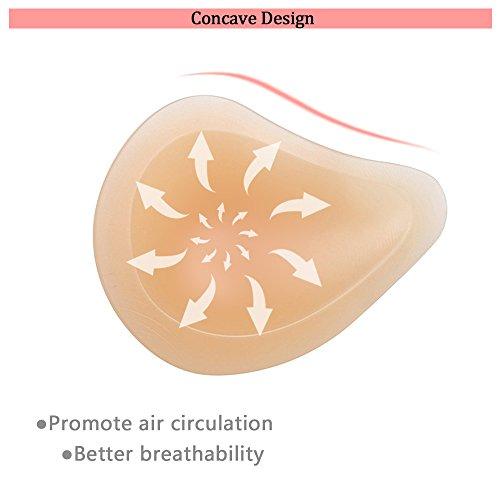 BIMEI Asymmetrical Shape Foam Breast Form S, Beige