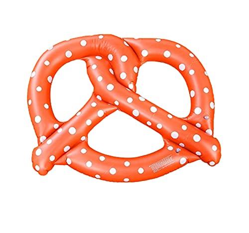 Anillo de NatacióN Un Pan Flotador Swimming Ring para Adultos Inflatable PVC 140cm de DiáMetro para Nadar para la Playa,Brown