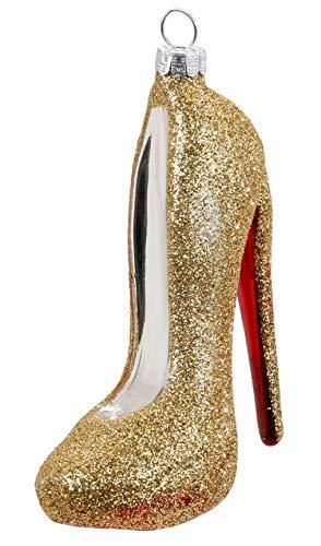Inge-Glas Christbaumschmuck Sexy High Heel gold 10,5 cm