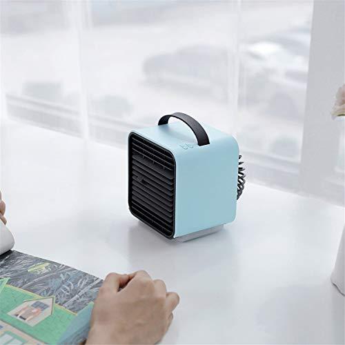 Desktop kleine airconditioning ventilator negatieve ion koeling mini luchtkoeler usb opladen kleine elektrische ventilator spray bevochtiging plus ijs plus water koelventilator slaapzaal kantoor slaapkamer bed kleine draagbare