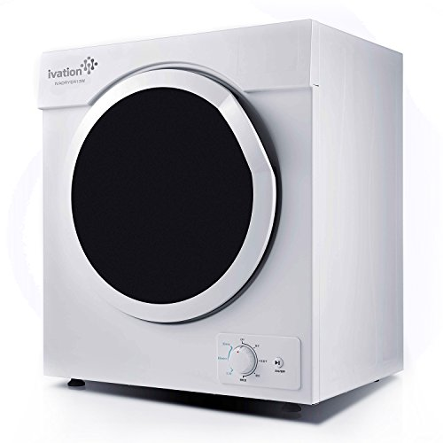 Ivation 3.21 cu.ft Small Compact Portable Ventless Electric Dryer for Clothes Laundry - 1,500W Drying Power for Apartments Condos Townhomes Dormitory Rooms, RVs & Trailers- 7 Settings