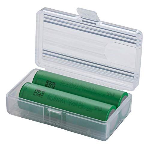 2 Akkus Doppelpack 18650 VTC5A (KONION) - MURATA 18650 für für eZigarette Batterien Akku Dampfen Akkus für dampfer + Akkubox