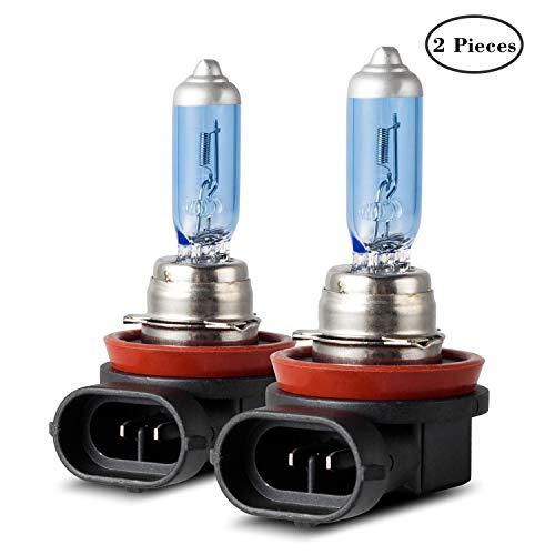 Winpower H8 Halogène Ampoules de phare 100W 5000k Blanc chaud Lampe 12V Auto Voiture Feux de brouillard Feu de position DRL Ampoule, 2 pièces
