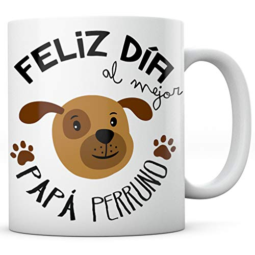 PANISCUS Taza para Regalar Papá Perruno Regalo para Amigo Invisible Mascota Perro Gato Día de la Madre Día del Padre Cumpleaños Amor