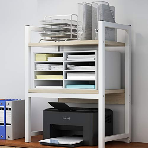 ZWPNA Soporte para Impresora Organizador Escritorio, Estantes De La Impresora,50 * 35 * 80cm,para Oficina, Casa, Estructura Metálica, Estilo Industrial, Fácil Montaje