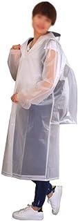 Risareyi Poncho de lluvia reutilizable con capucha con cordón, impermeable plegable para picnic, senderismo, viajes, chaqu...