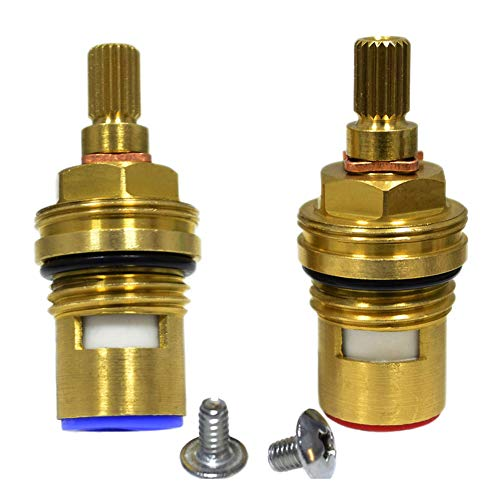 Huashan Pair of Replacement Brass Ceramic Disc Cartridge Faucet Valves