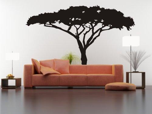 Dalinda Wandtattoo afrikanischer Baum Nr. L395 Wandsticker Wandaufkleber Wanddeko