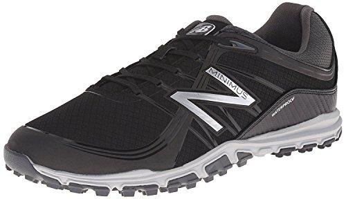 New Balance Men's Minimus Golf Shoe, Black, 7.5 D US