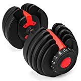 YPC Single Adjustable Dumbbell, Fast Adjust...