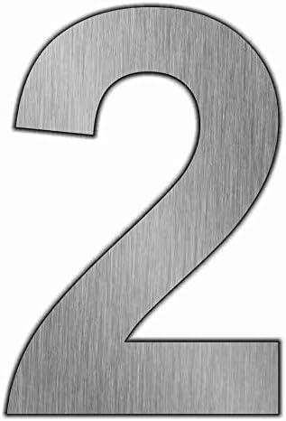 2 T/ürnummern Hausnumern 0-9 Zahlen aus Edelstahl w/ählbar im modernen Stil