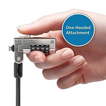 Kensington N17 Câble de Sécurité à Combinaison pour Encoches Wedge avec Verrou Robuste & Câble en Acier Carbone Résistant à la Découpe - Pour Ordinateurs Portables Dell & Alienware (K68008EU)