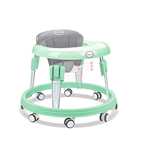 Baby Walkers Andador para bebés, de 6 a 18 Meses El Carrito antivuelco antirretorno previene Las Patas en O (Color : Gray, Tamaño : 6 Gear)