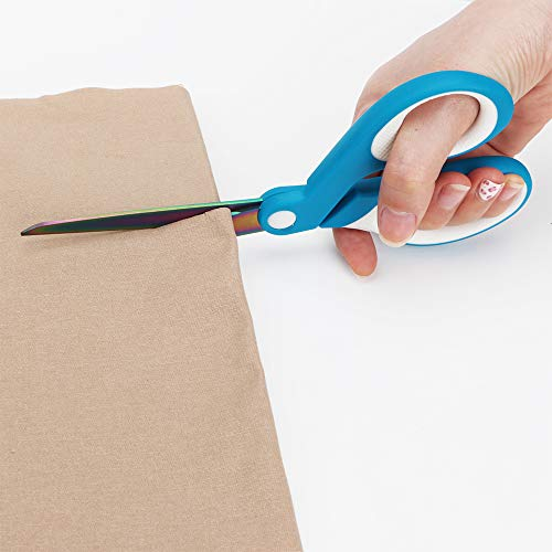 KUONIIY Scissors Titanium Blades Soft Comfort-Grip Handles 5-Pack,8 Inch