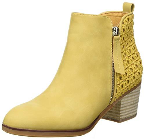 XTI 42371, Botas Cortas al Tobillo Mujer, Amarillo, 38 EU